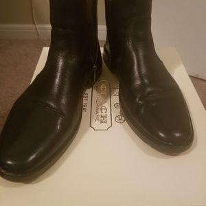 Preowned men coach dress boot